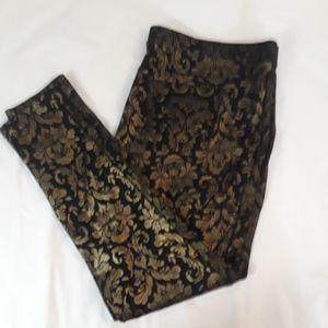 HUE Metallic Women Size XL Legging Pants